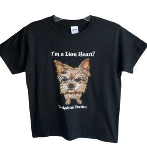 Other - Youth Small Black Graphic Tee Yorkshire Terrier